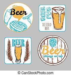 cerveja, jogo, etiqueta