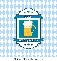 cerveja, vetorial, retro, etiqueta