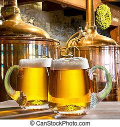 cervejas, cervejaria, dois