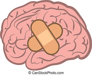 cervello, fasciatura