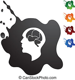 cervello, icona