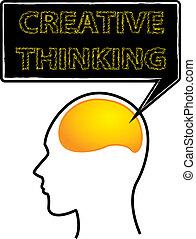 cervello pensante, creativo