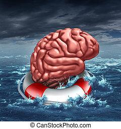 cervello, risparmio, tuo