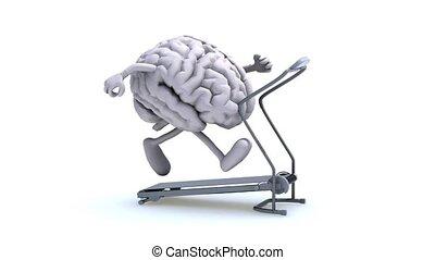 cervello umano, su, uno, macchina corrente