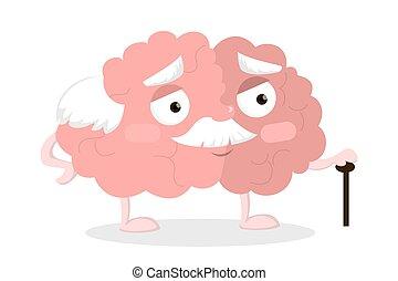 cervello, vecchio, cane.