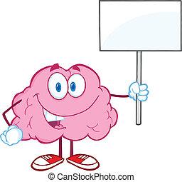 cervello, vuoto, su, presa a terra, segno