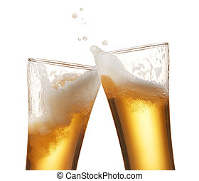 cerveza, brindar