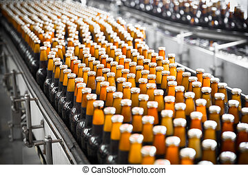 cerveza, cinturón, botellas, transportador