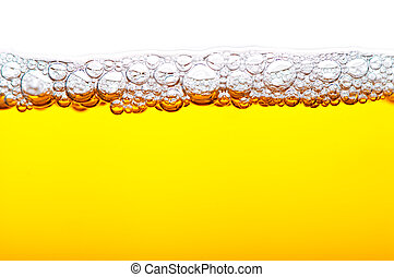 cerveza, con, espuma