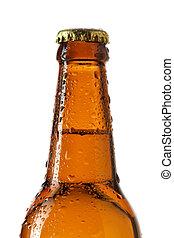 cerveza, cuello, botella