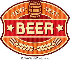 cerveza, diseño, etiqueta