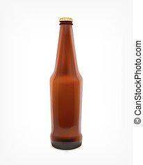 cerveza, en, un, botella