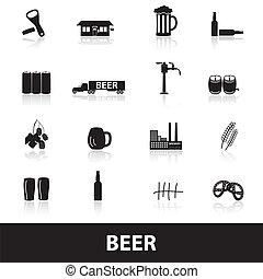 cerveza, eps10, iconos
