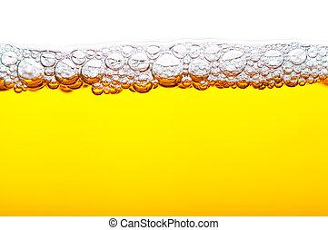 cerveza, espuma