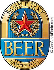 cerveza, etiqueta, diseño