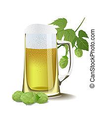 cerveza, hops.