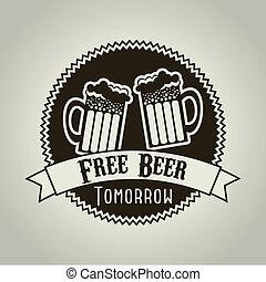 cerveza, libre