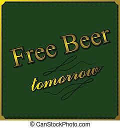 cerveza, libre, plano de fondo