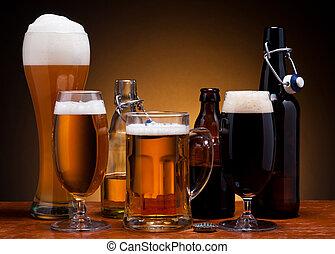cerveza, naturaleza muerta