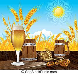 cerveza, paisaje