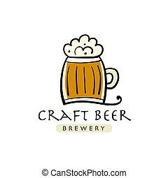 cerveza, restaurante, logotipo, industria cervecera, compañía, beerhouse, cervecería, barra, bar, taberna, diseño, casa, dramshop, taproom, alehouse, plantilla