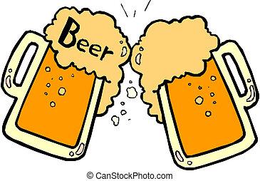 cerveza, salpicar