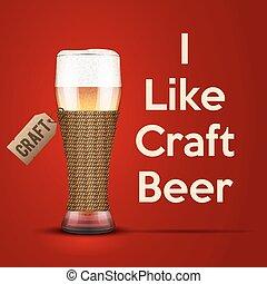 cerveza, vector, arte, como, ilustración