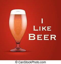 cerveza, vector, como, ilustración