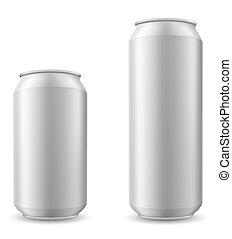 cerveza, vector, lata, ilustración
