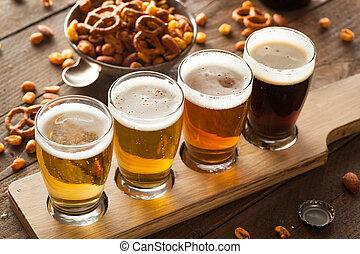 cervezas, vuelo, variado