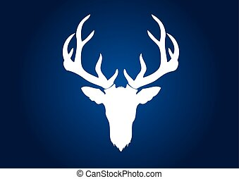 cervo, testa, corno grande, cervo
