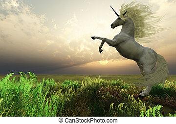 cervo, unicorno