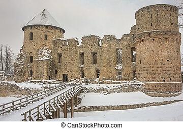 cesis, letonia, ruinas, castillo