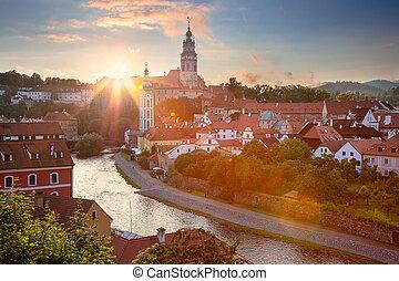 Cesky Krumlov. - Aerial cityscape image of Cesky Krumlov, ...