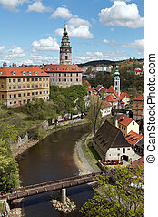 Cesky Krumlov in the Czech ,old town on Unesco list