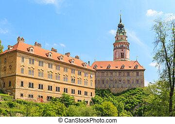 cesky, krumlov, /, krumau, castello, e, torre, unesco, mondo, eredità, luogo