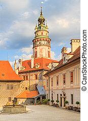 Cesky Krumlov / Krumau, View on Castle Tower, UNESCO World ...