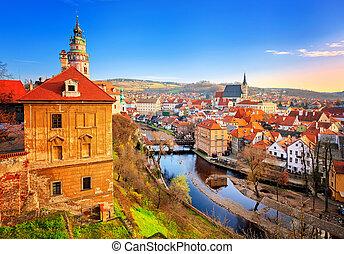 Cesky Krumlov Old Town, Czech Republic - Cesky Krumlov, view...