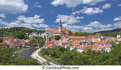 Cesky Krumlov the Castle in the spring
