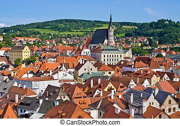 Cesky Krumlov - town on UNESCO list in Czech Republic