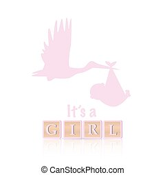 c'est, girl, illustration