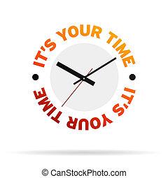 c'est, temps, ton, horloge