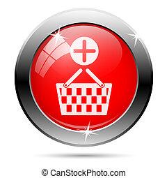 cesta, agregar, compras, icono