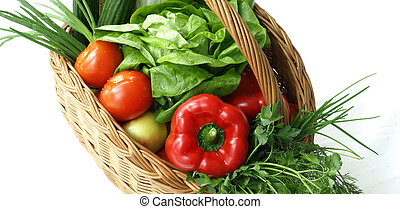 cesta, alimento, dieta