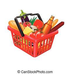 cesta, alimento