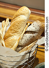 cesta,  baguettes
