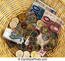 cesta, collection., donación, donar, ¿?