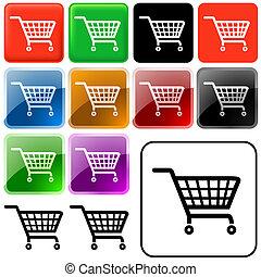 cesta, compras, señal