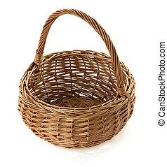 cesta feito vime, branca