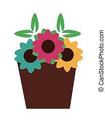 cesta, flores
